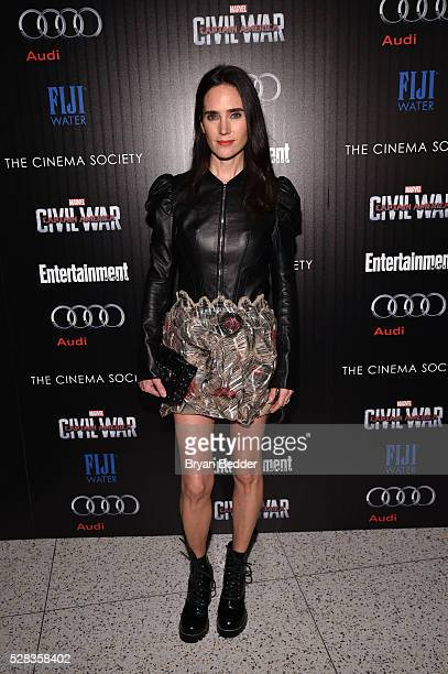 Actress Jennifer Connelly attends the Cinema Society with Audi and FIJI Water host a screening of Marvel's 'Captain America Civil War' on May 4 2016...