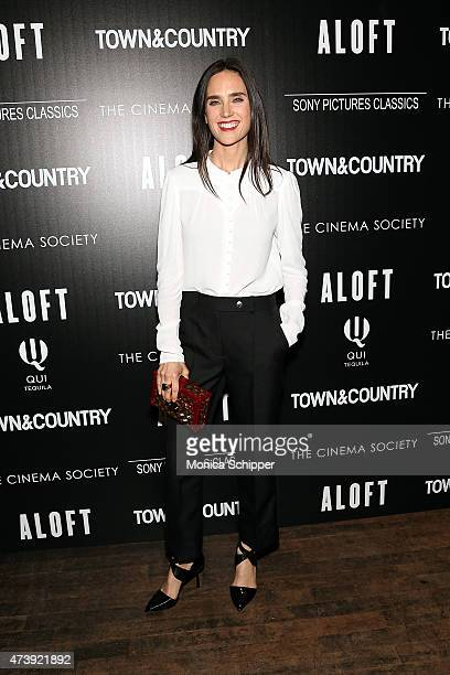 Actress Jennifer Connelly attends The Cinema Society with Town Country host a special screening of Sony Pictures Classics' Aloft at Tribeca Grand...