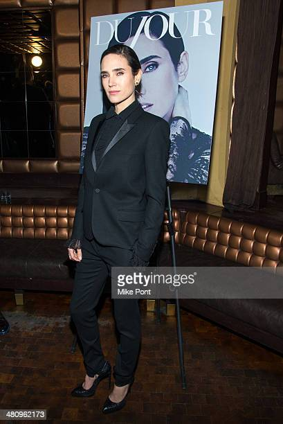 Actress Jennifer Connelly attends the DuJour Magazine Spring 2014 Issue celebration with Jennifer Connelly at Lavo on March 27 2014 in New York City