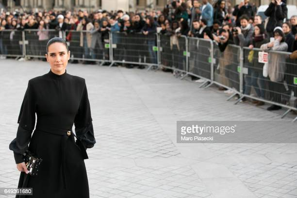 Actress Jennifer Connelly attends the Louis Vuitton show as part of the Paris Fashion Week Womenswear Fall/Winter 2017/2018 on March 7 2017 in Paris...