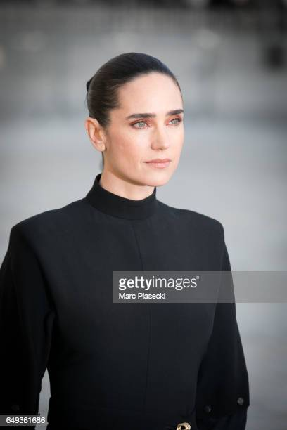 Actress Jennifer Connelly attends the Louis Vuitton show as part of the Paris Fashion Week Womenswear Fall/Winter 2017/2018 on March 7, 2017 in...