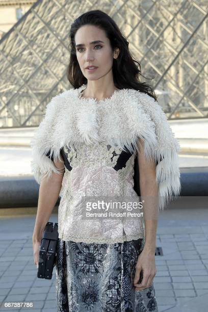 Actress Jennifer Connelly attends the LVxKOONS exhibition at Musee du Louvre on April 11 2017 in Paris France