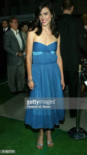 Actress Jennifer Connelly attends the world premiere of the Universal Feature Wimbledon at the Academy of Motion Pictures Arts and Sciences on...