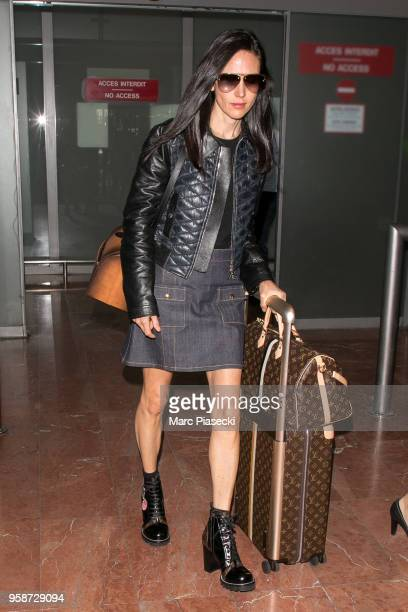 Actress Jennifer Connelly is seen during the 71st annual Cannes Film Festival at Nice Airport on May 15 2018 in Nice France
