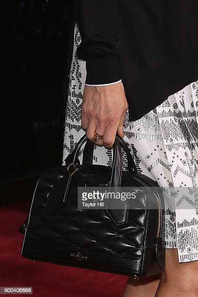 Actress Jennifer Connelly purse detail attends the In the Heart of the Sea premiere at Frederick P Rose Hall Jazz at Lincoln Center on December 7...