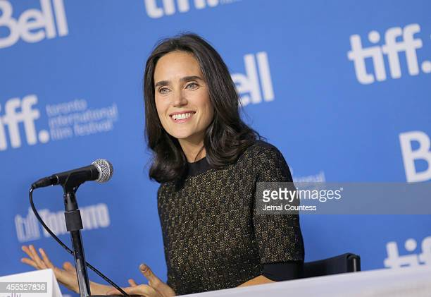 Actress Jennifer Connelly speaks onstage at the 'Shelter' Press Conference during the 2014 Toronto International Film Festival at TIFF Bell Lightbox...