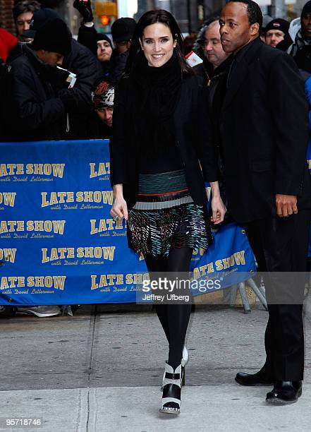 Actress Jennifer Connelly visits Late Show With David Letterman at the Ed Sullivan Theater on January 11 2010 in New York City