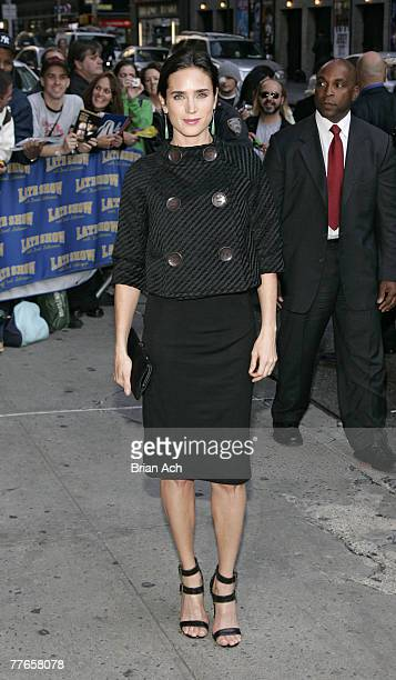 Actress Jennifer Connelly visits Late Show with David Letterman on October 30 2007 at the Ed Sullivan Theatre in New York City