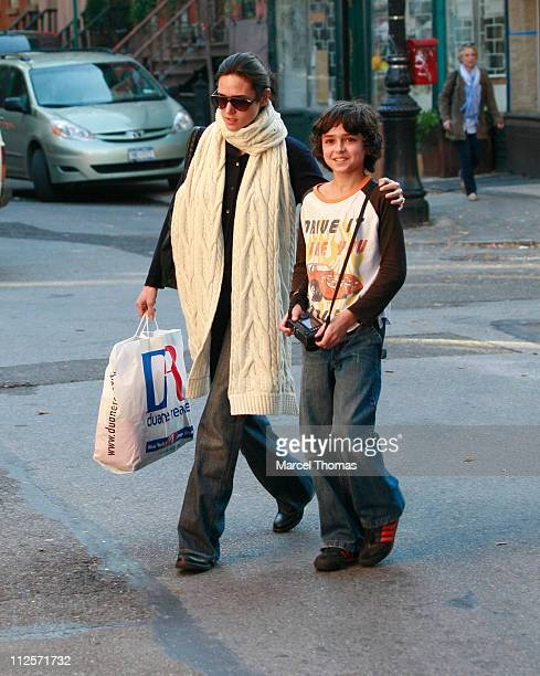 Actress Jennifer Connelly with son Kai Dugan sighting on October 31 2007 in New York City