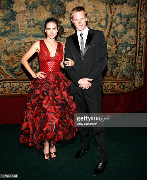 Actress Jennifer Connolly and actor Paul Bettany attend the fashion industry's battle against HIV/AIDs at the 7th on Sale gala held at the 69th...