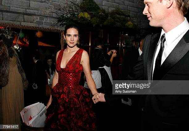 Actress Jennifer Connolly and actor Paul Bettany attends the fashion industry's battle against HIV/AIDs at the 7th on Sale gala held at the 69th...