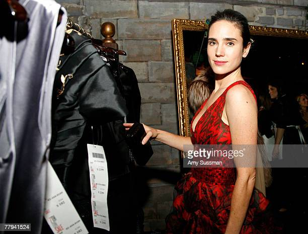 Actress Jennifer Connolly shops at the fashion industry's battle against HIV/AIDs at the 7th on Sale gala held at the 69th Regiment Armory on...
