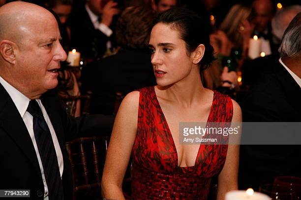 Actress Jennifer Connolly talks to guest at the fashion industry's battle against HIV/AIDs at the 7th on Sale gala held at the 69th Regiment Armory...