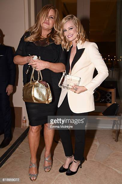 Actress Jennifer Coolidge and honoree Beth Behrs recipient of the Compassion Award attend ASPCA's Los Angeles Benefit on October 20 2016 in Bel Air...