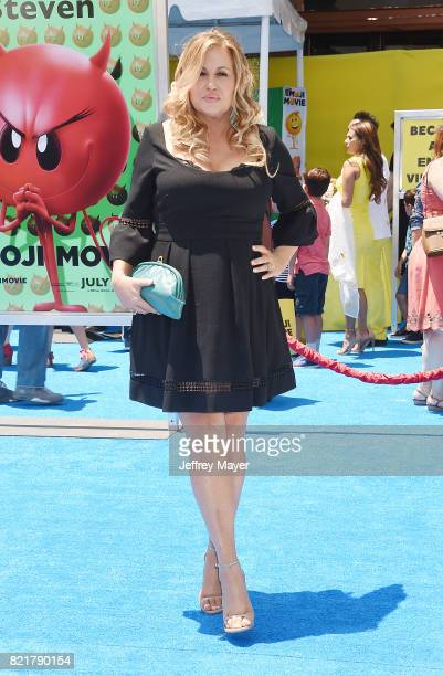 Actress Jennifer Coolidge arrives at the Premiere Of Columbia Pictures And Sony Pictures Animation's 'The Emoji Movie' at Regency Village Theatre on...