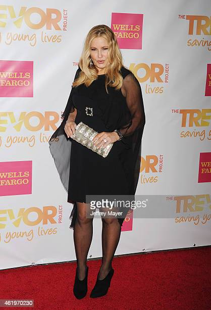 Actress Jennifer Coolidge arrives at TrevorLIVE Los Angeles at Hollywood Palladium on December 7 2014 in Los Angeles California