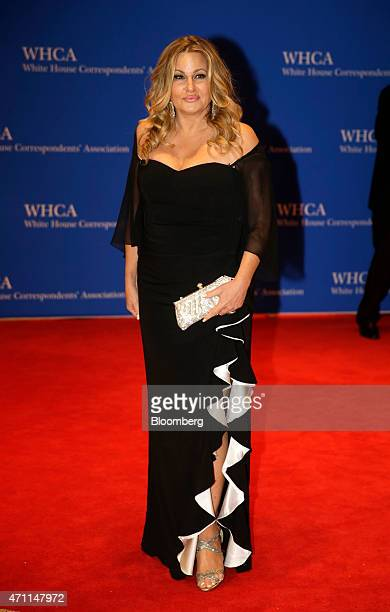 Actress Jennifer Coolidge arrives for the White House Correspondents' Association dinner in Washington DC US on Saturday April 25 2015 The 101st WHCA...