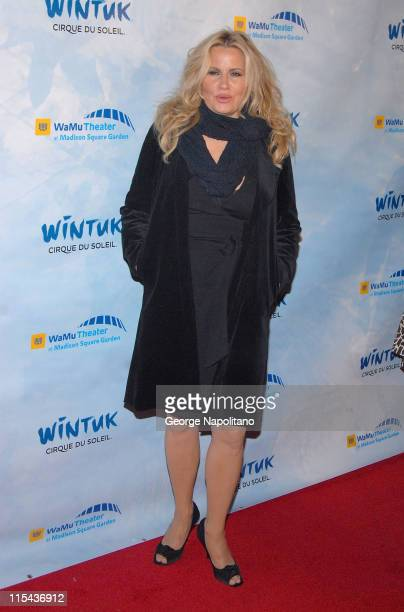 Actress Jennifer Coolidge at the World Premiere Of Wintuk Cirque du Soleil at the WaMu Theater at Madison Square Garden in New York City on November...