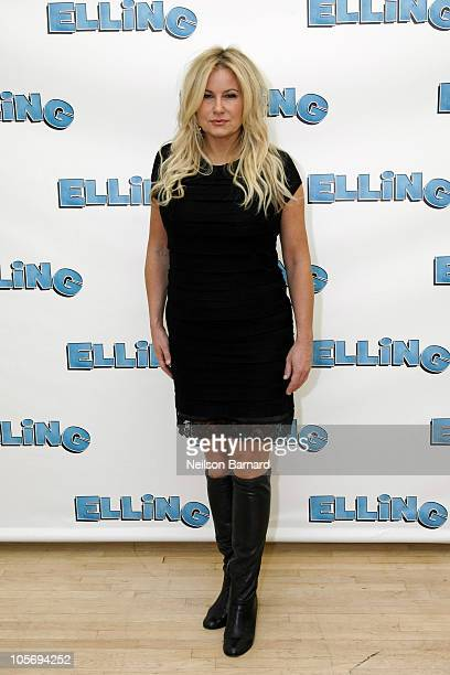 Actress Jennifer Coolidge attends Broadway's Elling cast meet greet at Ballet Tech Rehearsal Studios on October 19 2010 in New York City