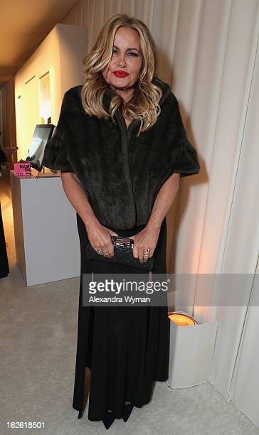 Actress Jennifer Coolidge attends Grey Goose at 21st Annual Elton John AIDS Foundation Academy Awards Viewing Party at West Hollywood Park on...