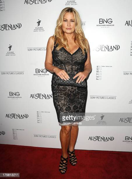 """Actress Jennifer Coolidge attends the premiere of """"Austenland"""" at ArcLight Hollywood on August 8, 2013 in Hollywood, California."""