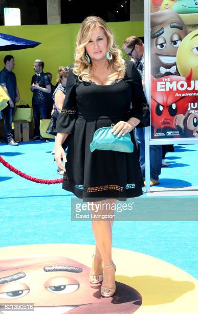 Actress Jennifer Coolidge attends the premiere of Columbia Pictures and Sony Pictures Animation's The Emoji Movie at Regency Village Theatre on July...