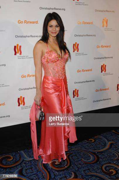 """Actress Jennifer Diaz attends """"A Magical Evening"""" hosted by The Christopher and Dana Reeve Foundation at The Marriott Marquis on November 12, 2007 in..."""