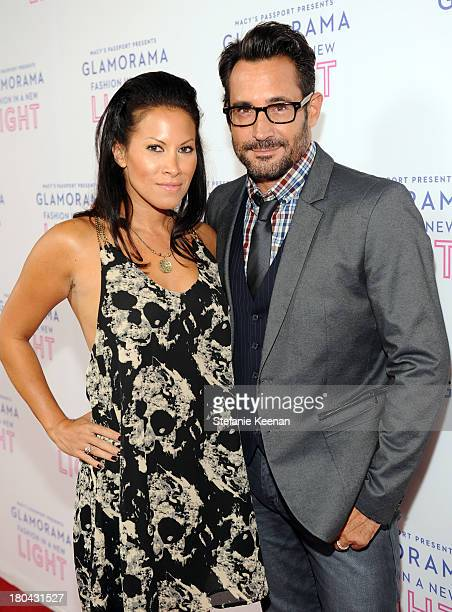 Actress Jennifer Dorogi and Gregory Zarian attend Glamorama Fashion in a New Light benefiting AIDS Project Los Angeles presented by Macy's Passport...