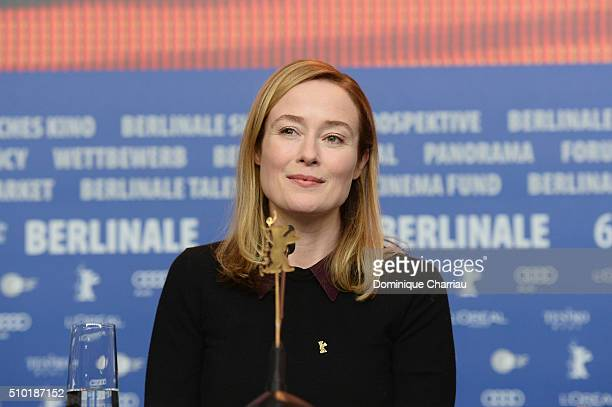 Actress Jennifer Ehle attends the 'A Quiet Passion' press conference during the 66th Berlinale International Film Festival Berlin at Grand Hyatt...