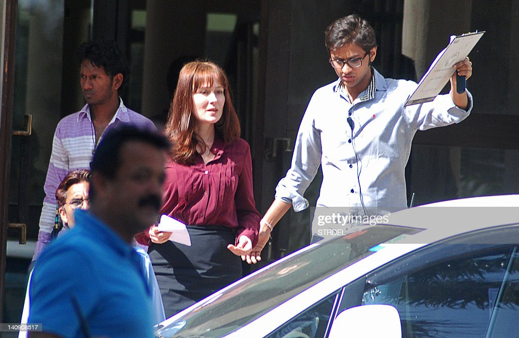 US actress Jennifer Ehle on set of Kathryn Bigelow`s forthcoming film on Osama bin Laden in Chandigarh on March 7 2012 The untitled film is due to be.