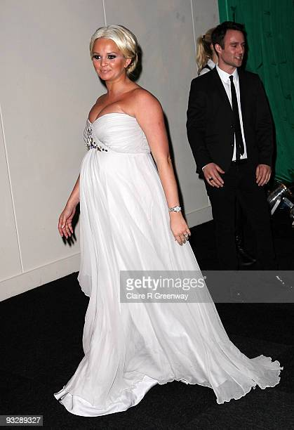 Actress Jennifer Ellison arrives at the fourth annual Emeralds And Ivy Ball in aid of Cancer Research UK at Battersea Evolution Centre on November 21...
