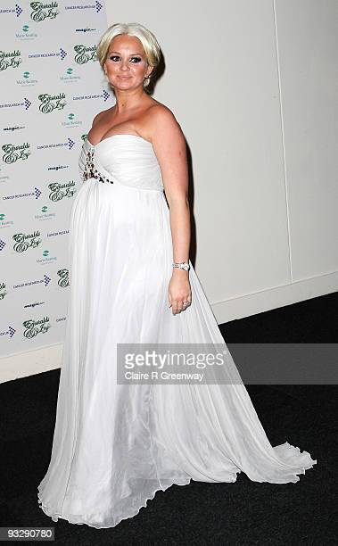 Actress Jennifer Ellison arrives at the fourth annual Emeralds And Ivy Ball in aid of Cancer Research UK at Battersea Evolution on November 21 2009...