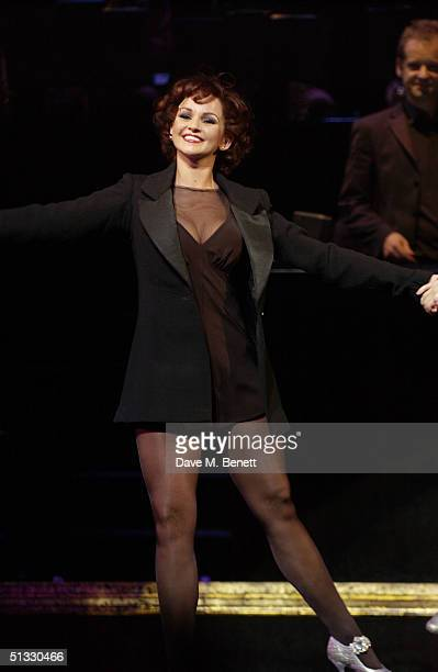 Actress Jennifer Ellison poses in her new role as Roxie Hart in the West End musical Chicago at the Adelphi Theatre on September 20 2004 in London...