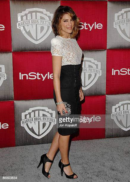 Actress Jennifer Esposito arrives at the 66th Annual Golden Globe Awards InStyle Warner Bros Official After Party at the Oasis Court at The Beverly...