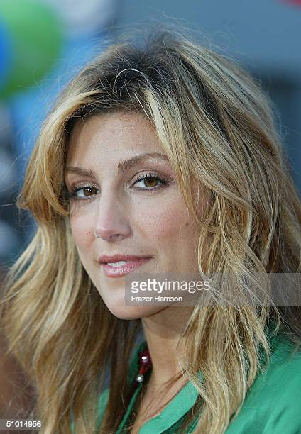 """Actress Jennifer Esposito arrives at the World Premiere of """"LA Twister"""" on June 30, 2004 at the Grauman's Chinese Theatre, in Hollywood, California."""