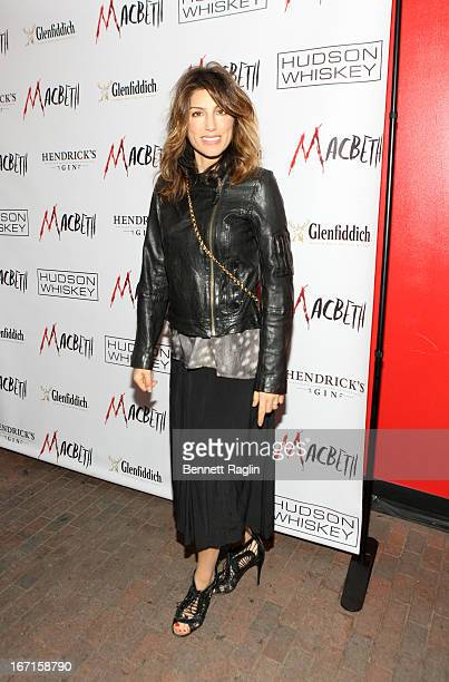 Actress Jennifer Esposito attends the Broadway opening night of 'Macbeth' after party at Hudson Terrace on April 21 2013 in New York City