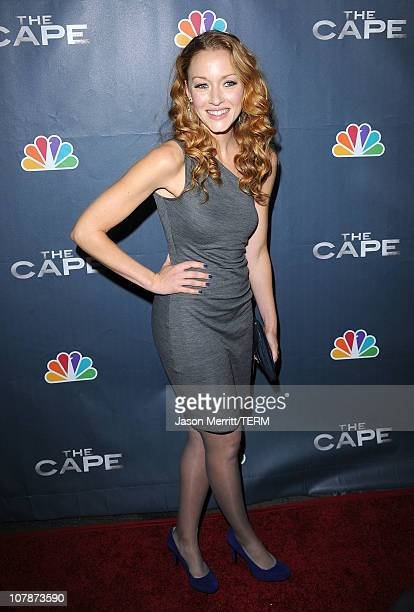Actress Jennifer Ferrin arrives at the premiere of NBC's The Cape on January 4 2011 in Hollywood California