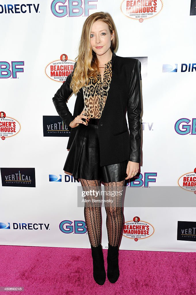 Actress Jennifer Finnigan arrives at the Los Angeles premiere of 'G.B.F.' at Chinese 6 Theater in Hollywood on November 19, 2013 in Hollywood, California.