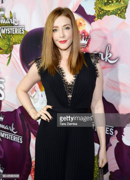 Actress Jennifer Finnigan attends Hallmark Channel And Hallmark Movies and Mysteries Winter 2018 TCA Press Tour at Tournament House on January 13...
