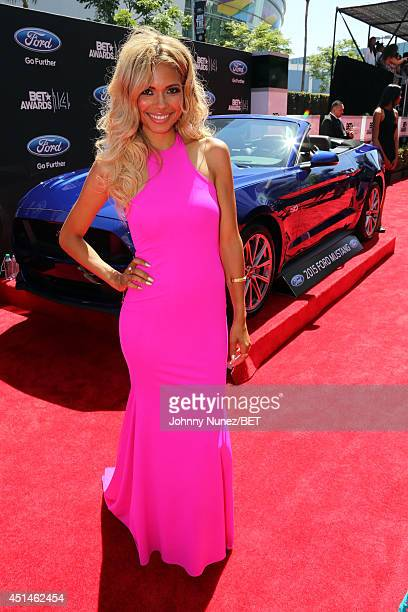 Actress Jennifer Freeman attends the BET AWARDS '14 at Nokia Theatre LA LIVE on June 29 2014 in Los Angeles California