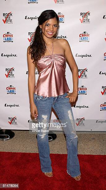 Actress Jennifer Freeman attends 'Young Hollywood Votes' at the Esquire House Los Angeles on October 13 2004 in Beverly Hills California