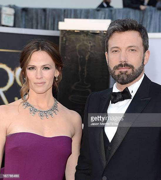 Actress Jennifer Garner and actordirector Ben Affleck arrive at the Oscars at Hollywood Highland Center on February 24 2013 in Hollywood California