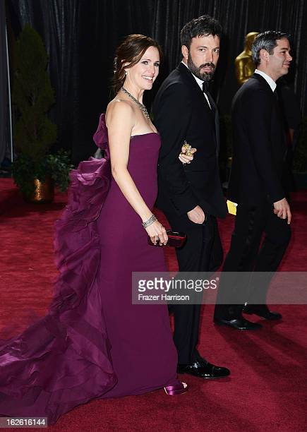 Actress Jennifer Garner and actor/director Ben Affleck winner of Best Picture for 'Argo' departs the Oscars at Hollywood Highland Center on February...