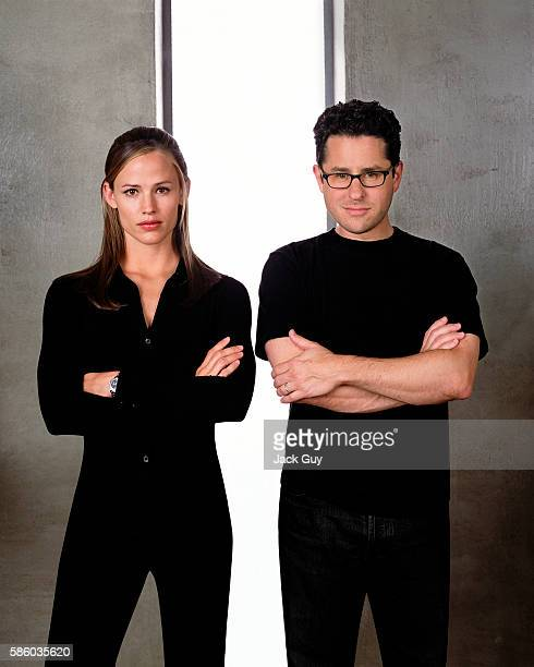 Actress Jennifer Garner and director JJ Abrams are photographed for Daily Variety in 2002 in Los Angeles California COVER IMAGE