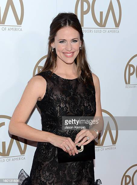 Actress Jennifer Garner arrives at the 24th Annual Producers Guild Awards held at The Beverly Hilton Hotel on January 26 2013 in Beverly Hills...