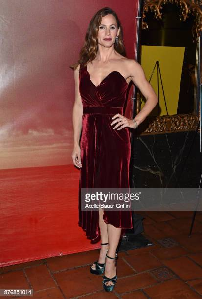 Actress Jennifer Garner arrives at the premiere of 'The Tribes of Palos Verdes' at The Theatre at Ace Hotel on November 17 2017 in Los Angeles...