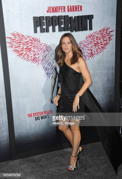 Actress Jennifer Garner arrives for the premiere of STX Entertainment's Peppermint held at Stadium 14 on August 28 2018 in Los Angeles California