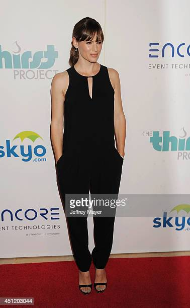 Actress Jennifer Garner attends the 5th Annual Thirst Gala hosted by Jennifer Garner in partnership with Skyo and Relativity's 'Earth To Echo' on...