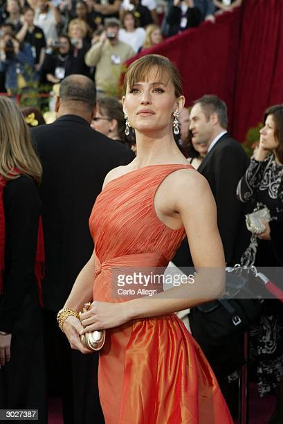 Actress Jennifer Garner attends the 76th Annual Academy Awards on February 29 2004 at the Kodak Theater in Hollywood California