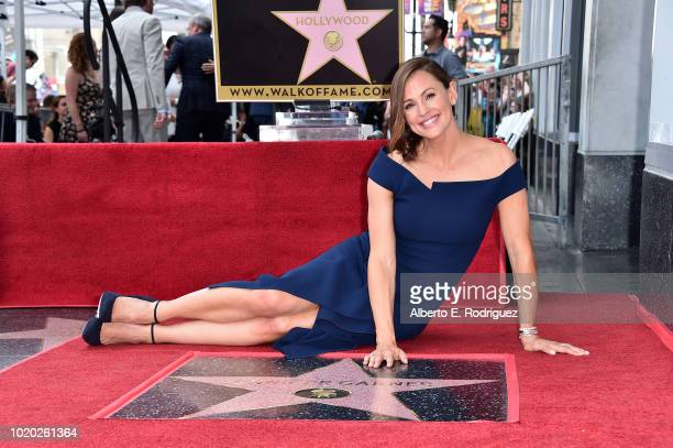 Actress Jennifer Garner attends the ceremony honoring her with the 2641st star on the Hollywood Walk Of Fame on August 20 2018 in Hollywood California